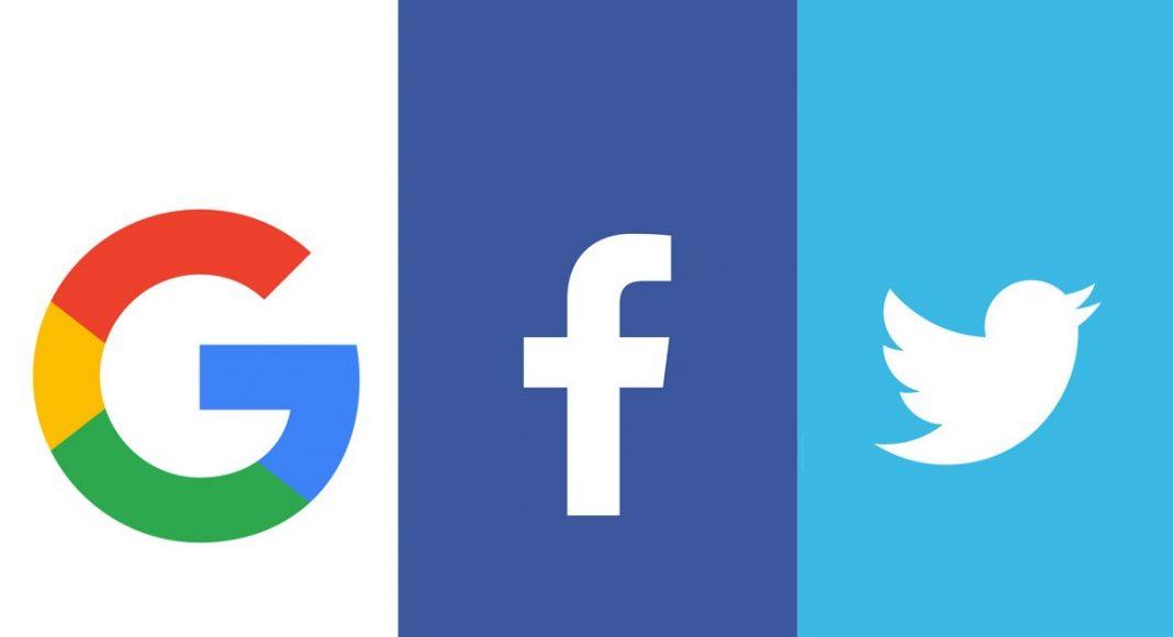 Google, Facebook, Twitter