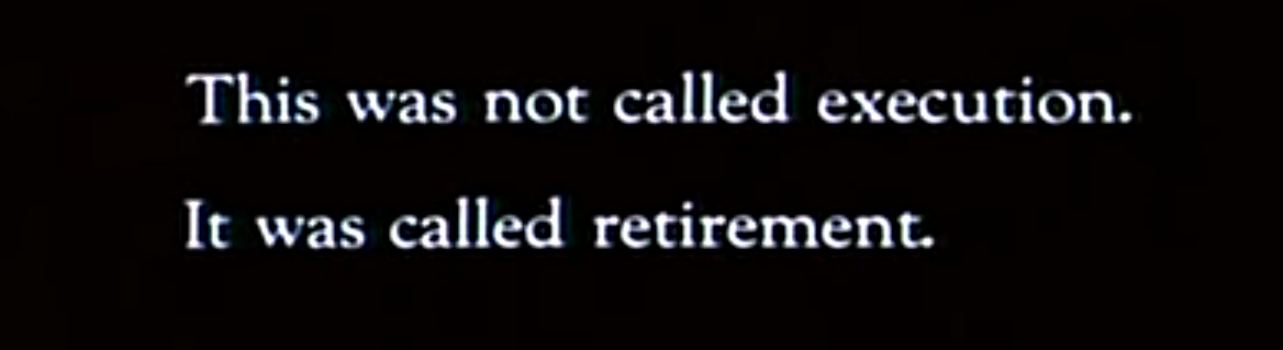 """""""This was not called retirement..."""" (Blade Runner)"""