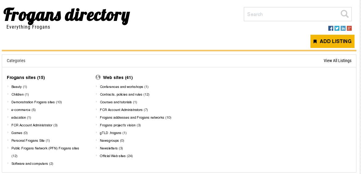 Frogans directory