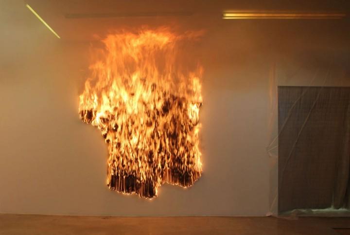 """Claire Fontaine - """"France burnt/unburnt"""""""
